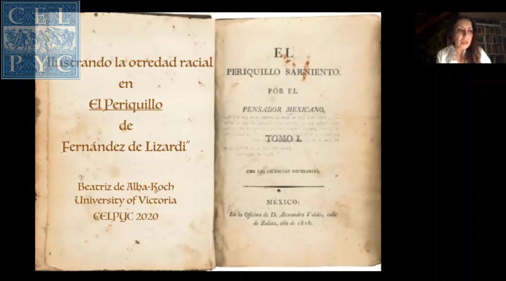 """Ilustrando la otredad racial en """"El Periquillo"""" de Fernández Lizardi – Beatriz de ALBA-KOCH (University of Victoria)"""